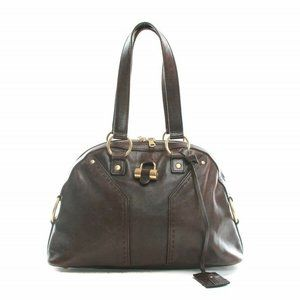 Yves Saint Laurent brown leather muse bag